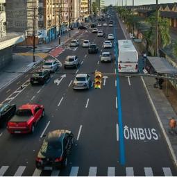 Porto Alegre ganha novas faixas exclusivas de ônibus.