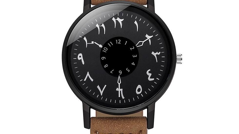 Relógio Árabe Marrom