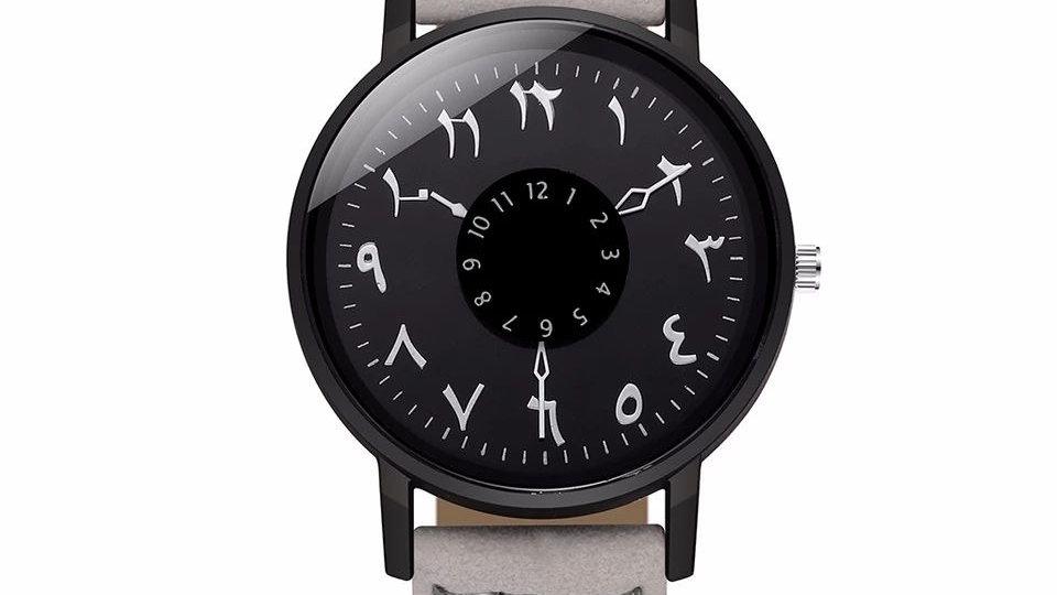 Relógio Árabe Cinza