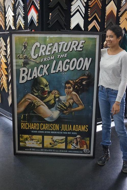 Framed print of vintage movie poster 150 x 100cm
