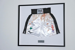 Blood covered boxers shorts