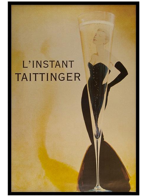 Custom framed vintage poster print. 150 x 100cm