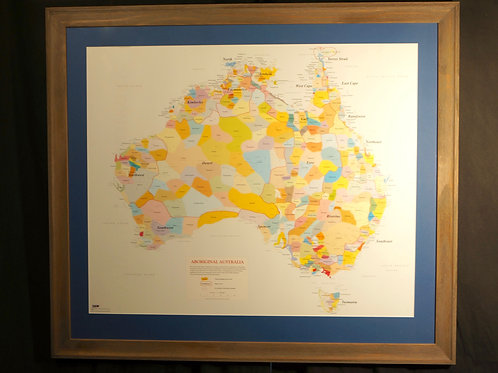 Framed map of Aboriginal Australia