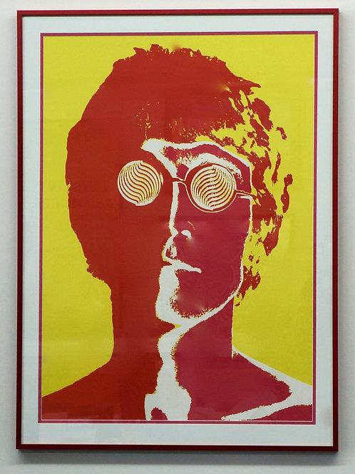Framed John Lennon artwork (95 x 70cm)