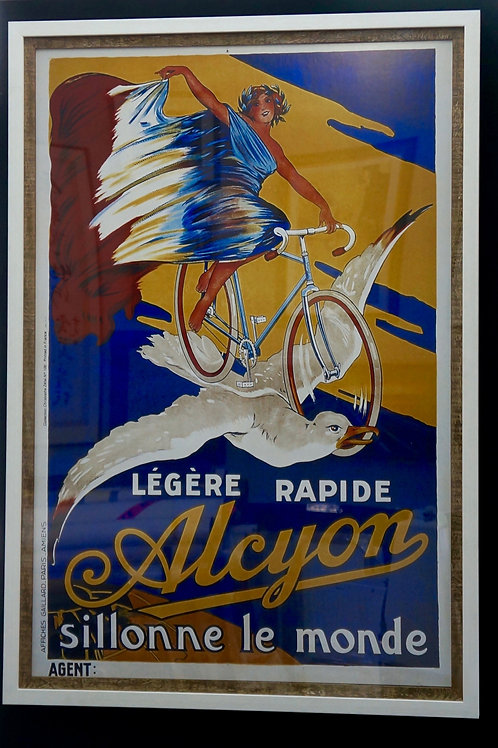 Large, Vintage poster print, with double frame. 90 x 130cm
