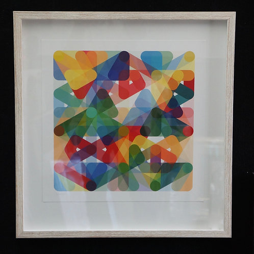 Signed print by artist, Simon Page. 56 x 58cm