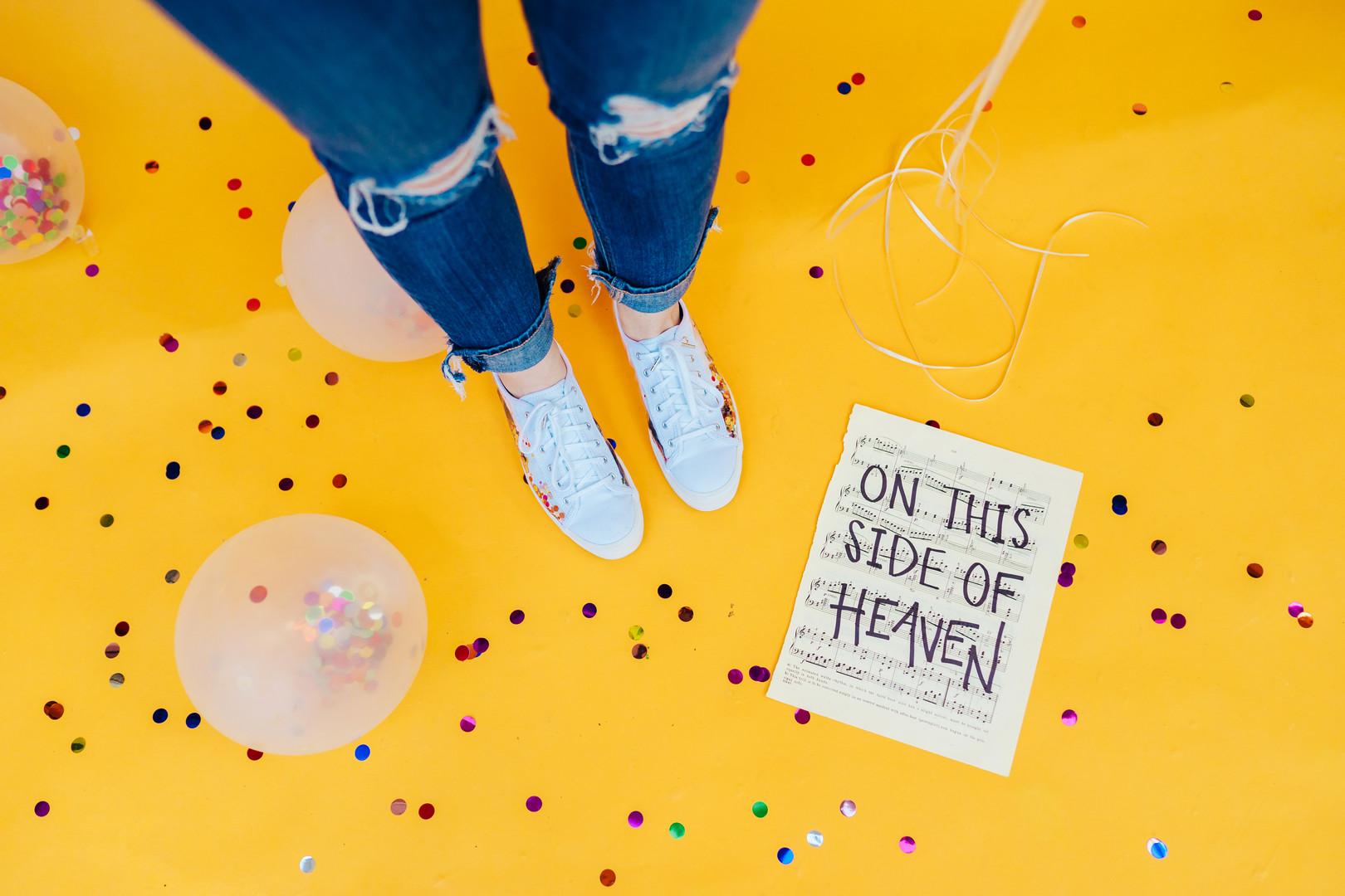 celebrate with confetti