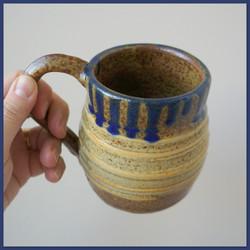 Drippy Blue on Ash Mug