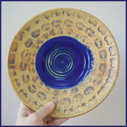 Ash Blue Fossil Plate