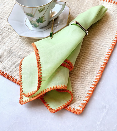 Raffia Placemat and Napkins (Set of 4)