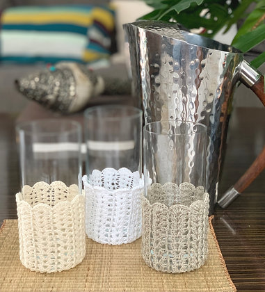Crochet Glass Huggers (Dining Room Series)