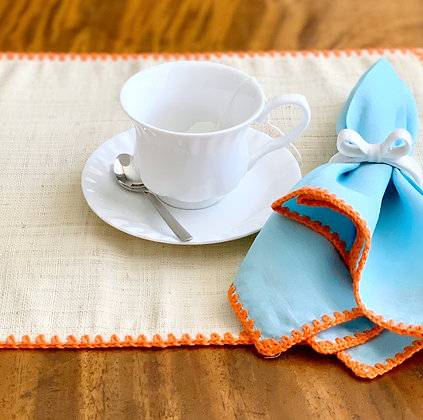 Raffia Placemats and Napkins (Set of 4)