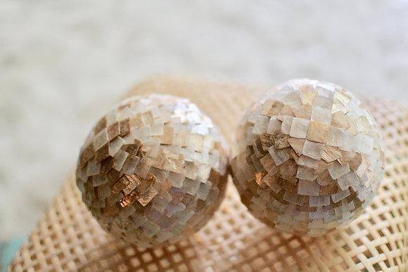 Mosaic Capiz Balls (Set of 2)