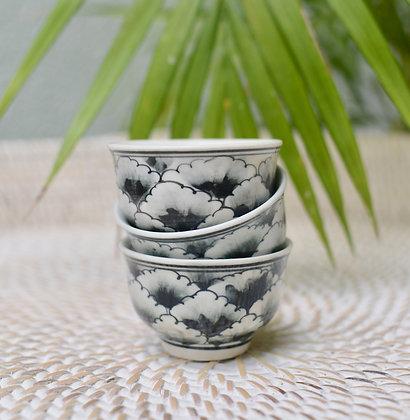 Ceramic Antique Style Tea Cups (Set of 5)