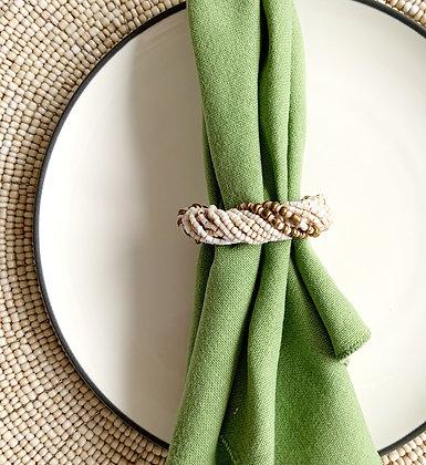 Beaded Napkin Rings (Set of 6)