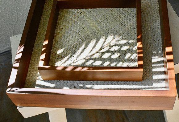 Wood and Abaca Tray