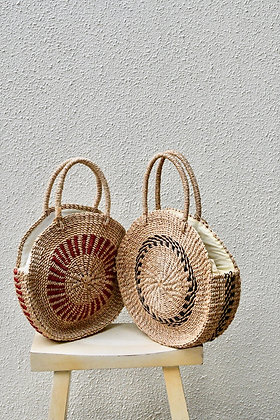 Abaca Round Bags with Lining