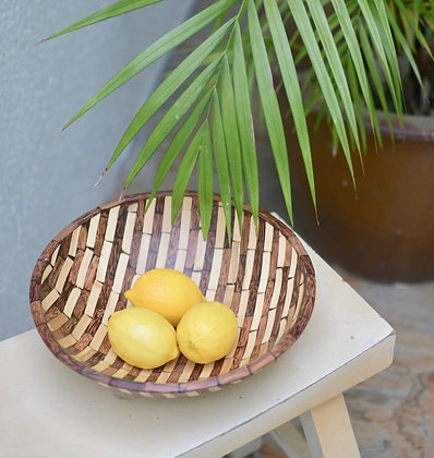 Crushed Bamboo Fruit Bowl