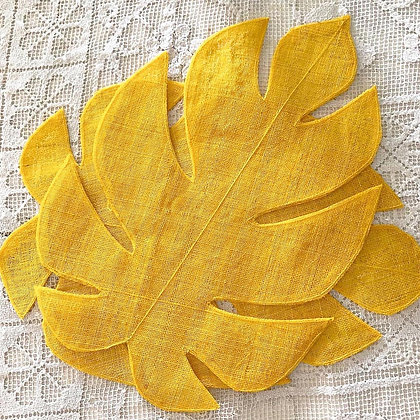 Abaca Leaf-Shaped Placemats (Set of 4)
