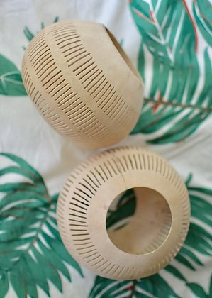 Coconut Shell Candle Holder or Planter (Set of 2)