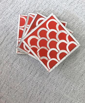 Bone Inlay Coasters (Set of 4)