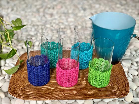 Crochet Glass Huggers (Summer Series)