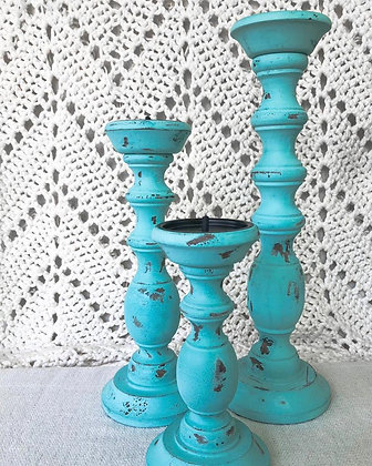 Wooden Candle Holders (Set of 3)