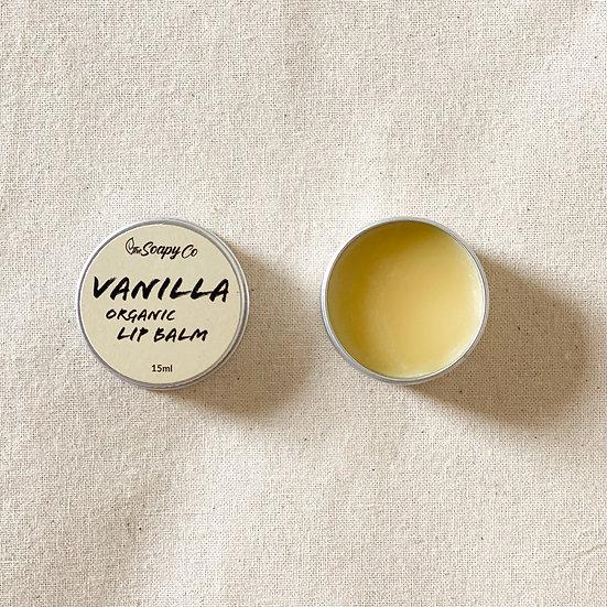 Vanilla Flavoured Lip Balm (Organic & Vegan)