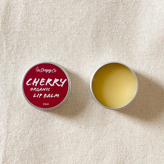 Cherry Flavoured Lip Balm (Organic & Vegan)