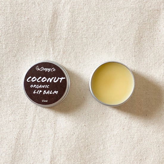 Coconut Flavoured Lip Balm (Organic & Vegan)