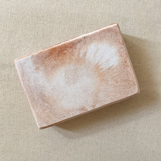Grapefruit and Red Clay Salted Soap Bar