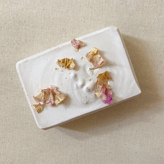 Rose Geranium and French Pink Clay Salted Soap Bar