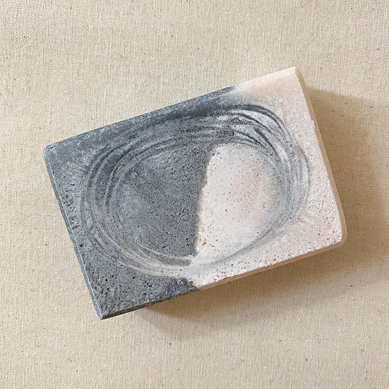 Rosemary and Activated Charcoal Salted Soap Bar
