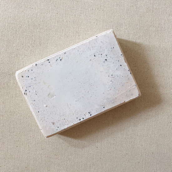 Lemon and Poppy Seed Salted Soap Bar