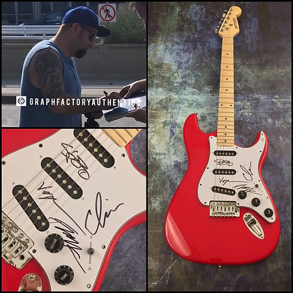 GFA Chino Moreno Band x4 * DEFTONES * Signed Autograph Electric Guitar PROOF COA