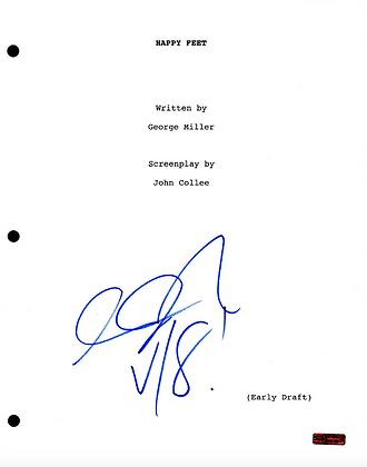 GFA Happy Feet * GEORGE MILLER * Signed Full Movie Script PROOF COA