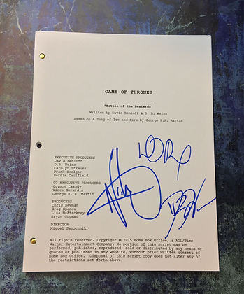 GFA x3 Creators & Nikolai * GAME OF THRONES * Signed TV Episode Script PROOF COA