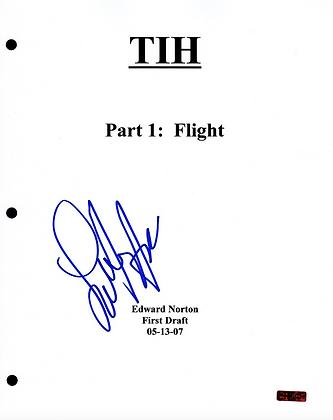 GFA The Incredible Hulk Movie * LOU FERRIGNO * Signed Full Page Script COA