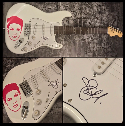 GFA Sexy Pink Pop Star * P!NK * Signed Autographed Decal Electric Guitar COA