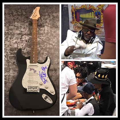 GFA Bootsy Collins & George Clinton * PARLIAMENT * Signed Electric Guitar COA