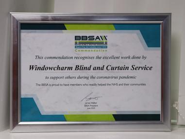 BBSA Commendation