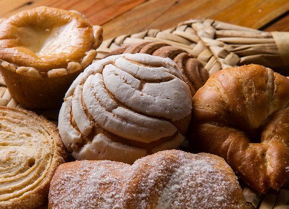 Pan dulce del día 6pz