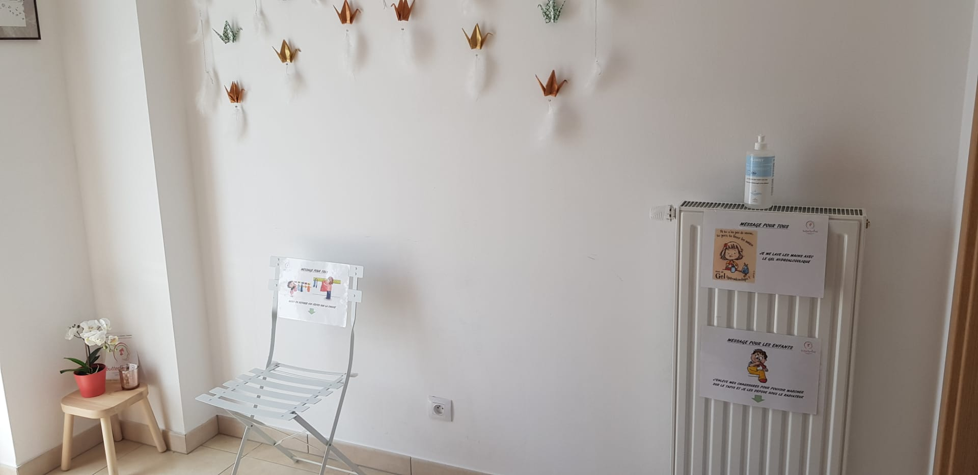 Salle d'attente butterfly mind-mesure coronavirus
