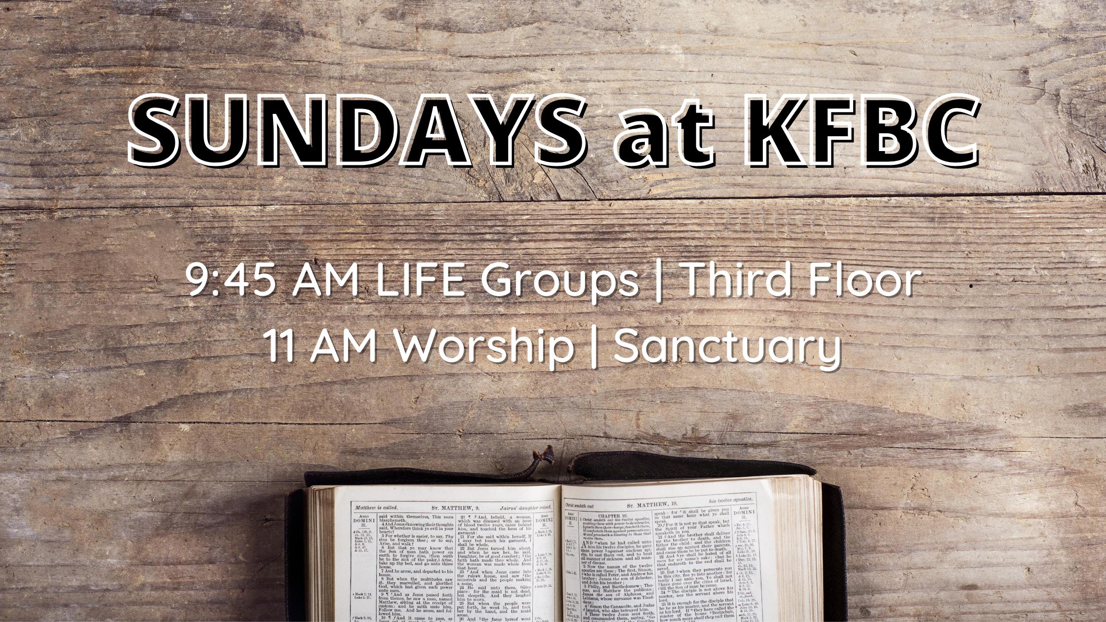 Sundays @ KFBC