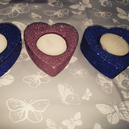 Heart tealight holders