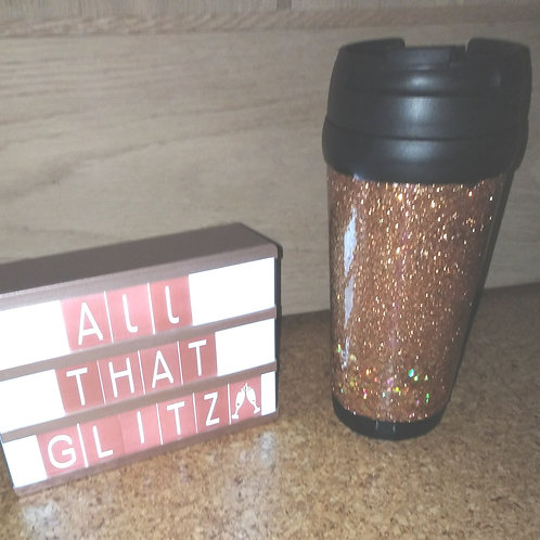 Glitter travel cups