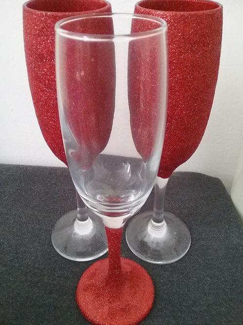 Sparkling set of 6 champagne flutes