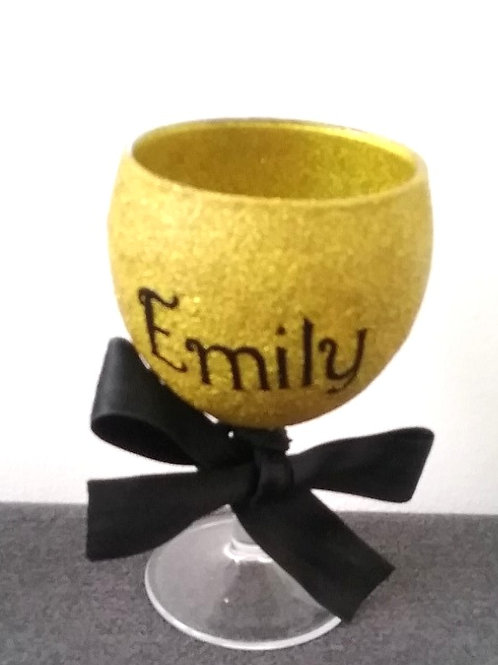 Small personalised wine glass