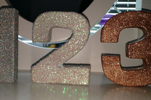 Decorative Glitter Table Numbers Set