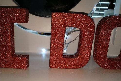 Decorative Glitter Letters bundle